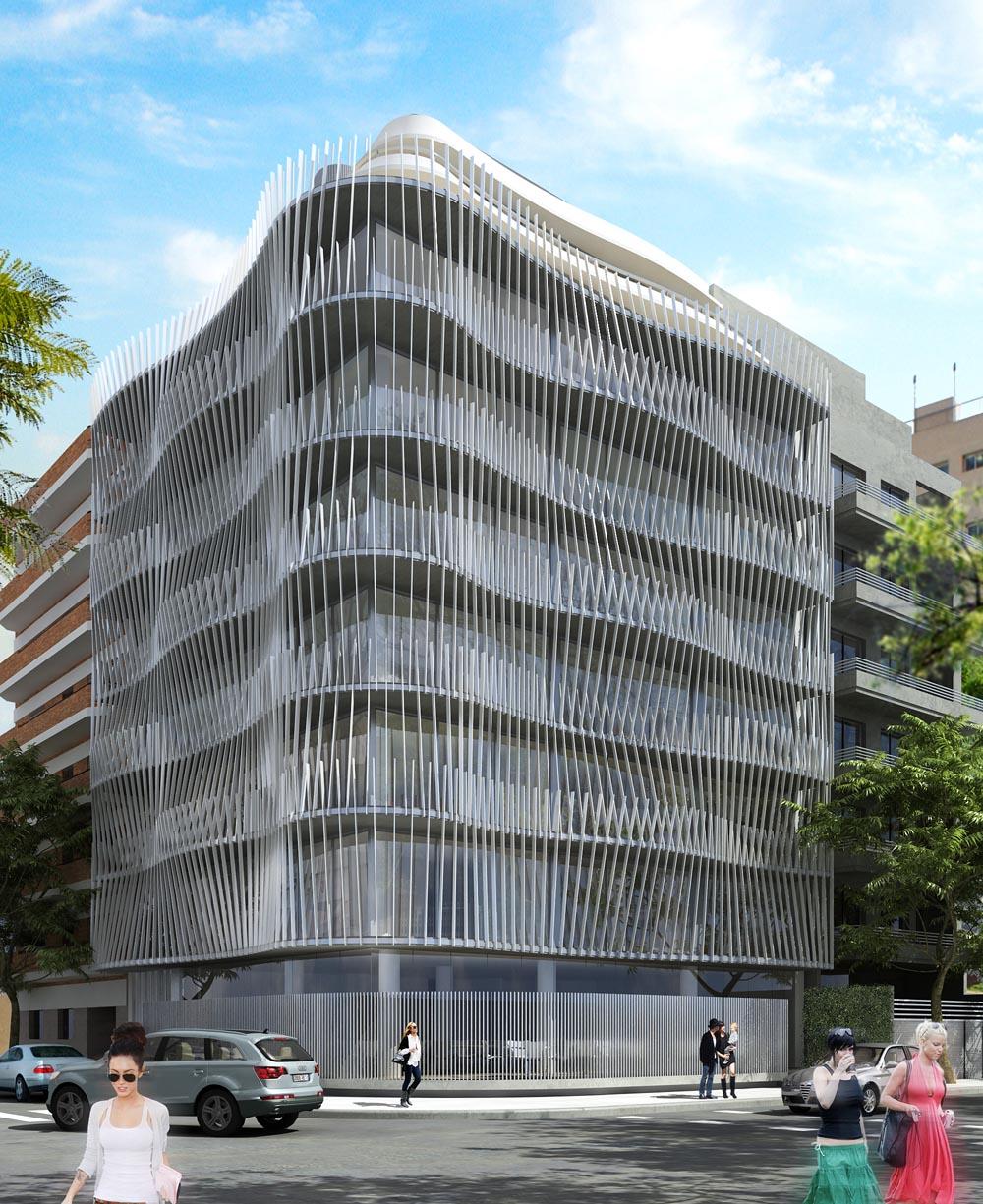 Hit3 un edificio de oficinas con criterios sustentables que se construye en La Pampa y Migueletes