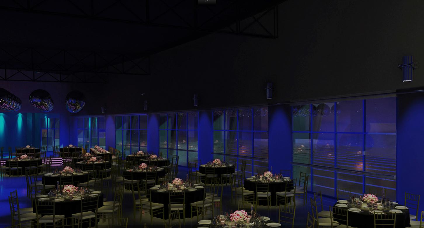 Salones de eventos en pilar tortugas eventos tradem style for Acuario salon de fiestas