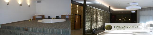 Revestimientos de Maderas exóticas – PALOSANTO – Hotel Hilton Tucumán