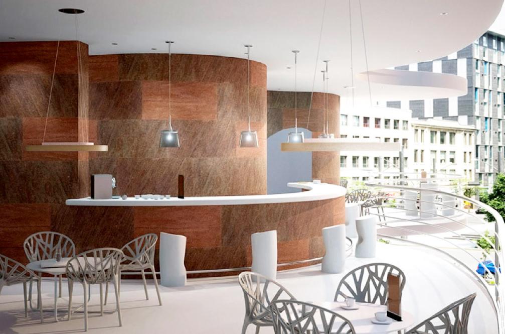 Revestimientos flexibles en piedra para la arquitectura - Revestimiento piedra interior ...