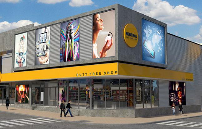 Diseño de locales Free Shop en frontera – Neutral – Melancia Mall – Ariaudo & Asoc.