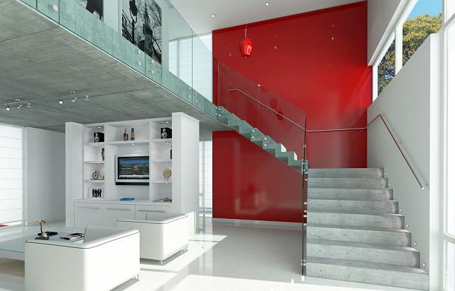 Barandas para escalera en cristal templado de calidad - Escaleras con barandilla de cristal ...