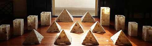Lámparas para decoración en piedra – Pirámide – Onix Zen