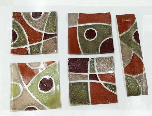 Objetos de arte para decoración en vidrio – Elvica Galeano