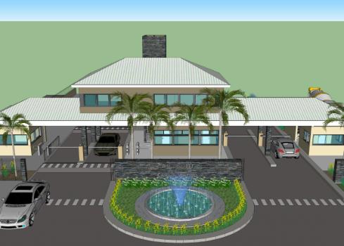 Diseño de entradas para barrios cerrados – Club de campo Arandú – Estudio Capdevielle Fuente