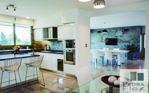Revestimiento en piedra natural flexible para viviendas – Silver – Pedraflex