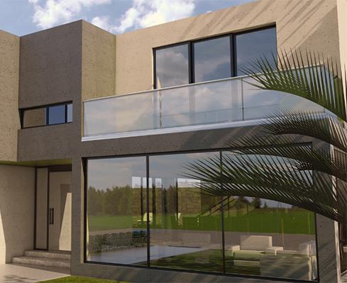 Barandas en vidrio templado para edificios – Linea Curvo – Kelender Glas