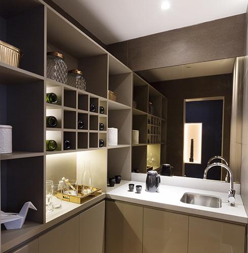 Sala de estar con diseño & tecnología – Casa Foa Circulo Olivos – Inés Calamante