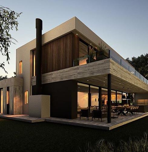 Diseño & construcción de casas en hormigón – Pinamar – Arquitecto Horacio Cáceres