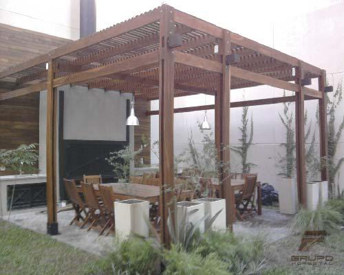 Construcción de pérgolas de madera – Nordelta – Grupo Forestal