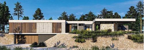 Casas modernas en hormigón visto