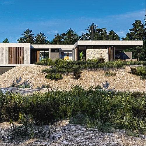 Casas modernas en hormigón visto – Costa Esmeralda – Barrio Golf 2 – Arquitecto Horacio Cáceres